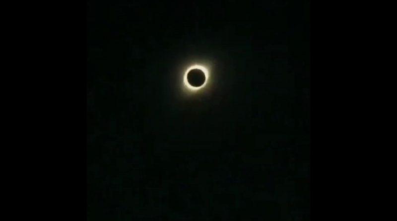 Последнее солнечное затмение года. Видео. «Кольцо огня»