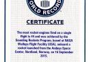 NASA устанавливает новый мировой рекорд Гиннесса