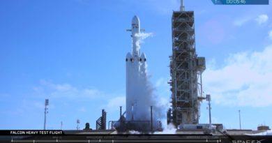 Тестовый полет Falcon Heavy